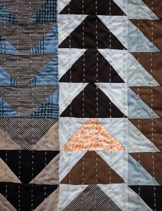 """In quilting folklore """"humility blocks"""" are often mentioned; an out of place color or odd placement in the patchwork design is an interpreted idea that since only God is perfect than making a perfect quilt is prideful. The opinions are divided if humility blocks are intentional mistakes as an exercise in Biblical decorum, or happy accidents. Quilt historians who have researched the origins of the humility block legend sum it up as a myth. The idea probably got started when ..."""