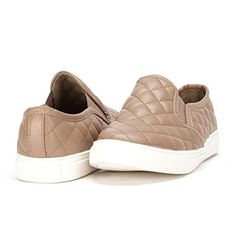 DREAM PAIR VIN-22 Women's New Quilted Fashion Elastic Side Round Toe Casual Sneakers Shoes Taupe Size 11 - Brought to you by Avarsha.com