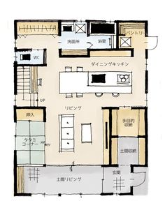 Apartment Layout, Apartment Design, Small House Plans, House Floor Plans, Japanese Apartment, Japanese Style House, Craftsman Floor Plans, Apartment Floor Plans, Sims House