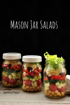 Mason Jar Salads -- make ahead lunch idea for those who hate making lunches.