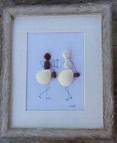 Pebble art girls shells Girls shells home decor friends
