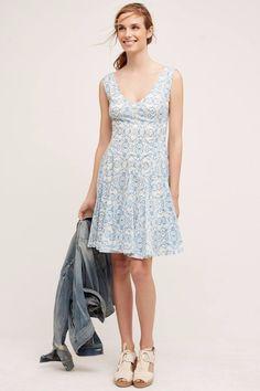 3a62b26e62e260 NWT ANTHROPOLOGIE SOUTH ISLAND BLUE PRINTED DRESS by HD in PARIS 4 | eBay