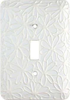 FLOWER BOUNTY White Switch Plates, Outlet Covers & Rocker Switchplates  switchits Switch Plate Covers, Switch Plates, Upstairs Bathrooms, Outlet Covers, Plates On Wall, Cover Design, Kids Room, Bathroom Ideas, Decorating