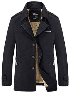 Wantdo Mens Cotton Turn Down Jacket With Fleece ** You can get additional details at the image link.