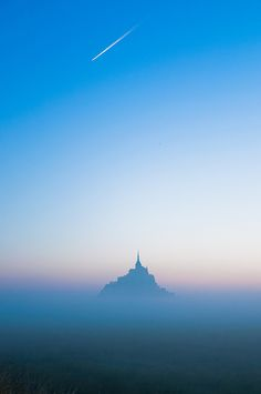 Castle in the Sky - Mont St. Michel, France | photo by Pham Anh Huy on Flickr.