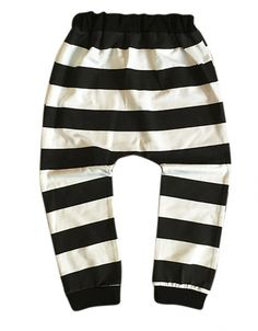 Baggy harem legging zwart-wit strepenKleur: zwart-wit grid patroonMateriaal: 95% katoen 5% elastan