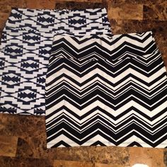 NWT 2 Charlotte Russe bodycon mini skirts. Sz XL NWT (2) Charlotte Russe bodycon mini skirts both size XL. The skirt in the second picture is navy and white. The skirt in the third picture is black and white. From an animal and smoke free home. No trading or PayPal. Charlotte Russe Skirts Mini