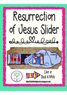 This Resurrection of Jesus Slider Freebie in color or black & white