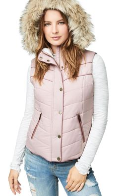 aeropostale Store via EBAY: **Super Cool Gift Alert!**  Was $59.50, NOW $23.80 + Ships FREE!  aeropostale womens hooded puffer vest  2 Colors, XS-2XL!  SAVE $35: http://ebay.to/2BBL9D4  #ad