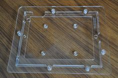 iPad VESA 100x100mm enclosure, Clear Acrylic Vesa Mount, Pos, Clear Acrylic, Belly Button Rings, Belly Rings, Belly Button