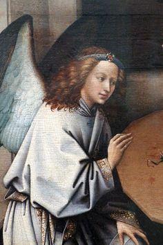 Robert Campin - The Annunciation. Detail. 1420 - 1440