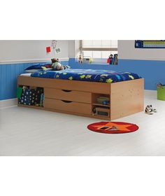 Buy Alfie Single Cabin Bed - Beech Effect at Argos.co.uk - Your Online Shop for Children's beds, Children's beds, Children's furniture, Limited stock Home and garden.