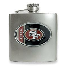 San Francisco 49ers Stainless Steel Hip Flask Real Goldia Designer Perfect Jewelry Gift goldia. $36.00