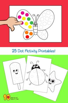 25 Do a Dot Activity Sheets