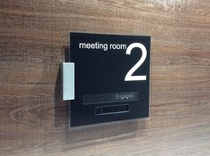 Top Notch Meeting Room Sliding Door Signs • Vacant • Engaged • what will yours say? http://www.de-signage.com/office_signs_for_doors.php