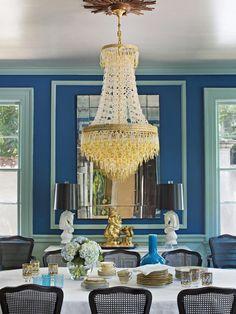 Mediterranean Blue + Robin's-Egg Blue + Black - 14 Fashion-Forward Color Schemes to Try on HGTV