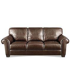 "HTL ""Concord"" Leather Sofa"
