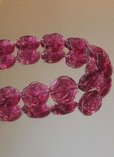 23 Pcs 17mm Pink Rose Acrylic Beads Destash DIY by PuddintaneInc