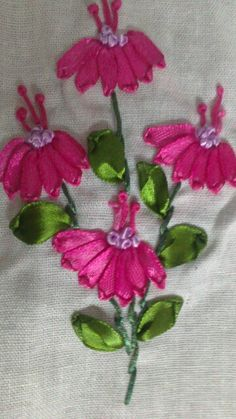 Ribbon embroidery basic patterns