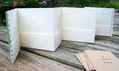 How to make a pocket accordion book.