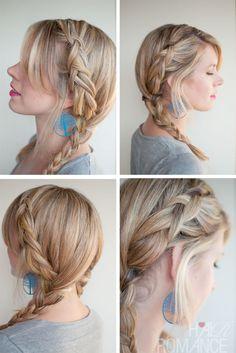 Hair Romance - 30 braids 30 days - 8 - dutch braid pigtails