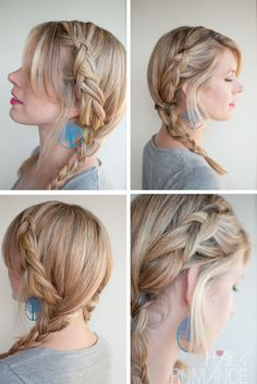 Trendy Double Dutch Braided Pigtails for holidays Looking for a perfect holiday hairstyle? Here's a super-trendy variation on the milkmaid look! The Dutch braid, or an inside-out French braid, is the basic technique for cornrows. From an asymmetrical side parting the hair is French-braided from high up on the head, to produce a pretty extra …