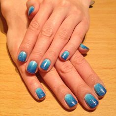 #nails #blue #ombre