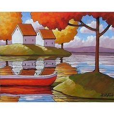 Canoe Cottages Trees  by Cathy Horvath Buchanan