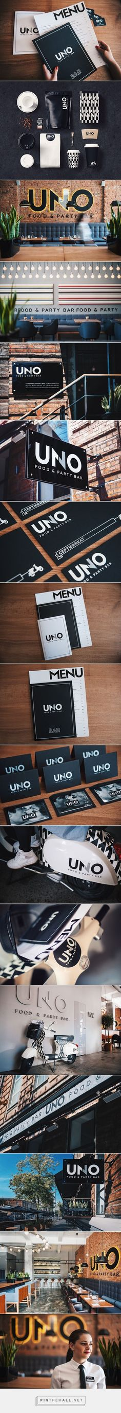 Uno Food and Party Bar on Behance Fivestar Branding – Design and Branding Agency & Inspiration Gallery Web Design, Visual Design, Logo Design, Website Design, Brand Identity Design, Graphic Design Branding, Cafe Design, Design Agency, Cafe Branding