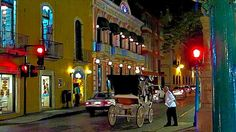 NIGHTTIME IN MERIDA YUCATAN