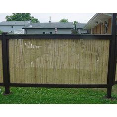 rolling out the Bamboo Friendly Fence into the frame and screwing it in. You'll finish off the fence by...