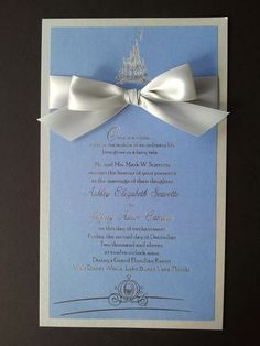 Disney Wedding Stationary - http://www.fairytalewedding.com/#    If only i could afford a wedding at the grand floridian resort