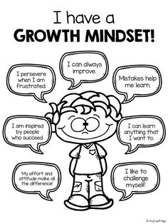 "GROWTH MINDSET: Great resource for introducing elementary students to positive ""self-speak."""