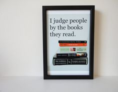 Typography Print Judge People by the Books by SacredandProfane, $9.00