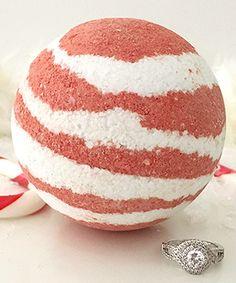 Look at this #zulilyfind! Candy Cane Ring Bath Bomb by Pearl Bath Bombs #zulilyfinds