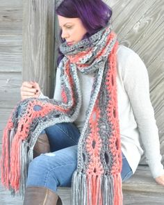 A Poppy in the Storm Super Scarf free crochet pattern from Cre8tion Crochet