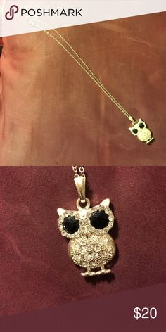 Short owl necklace Beautiful short owl necklace with extender to length. Silver. Jewelry Necklaces