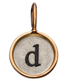 $200.00  Heather Moore Lowercase Round Initial Charm