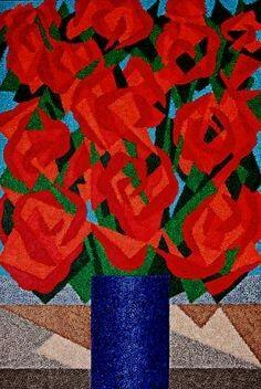 Alberto da veiga / vaso de flores