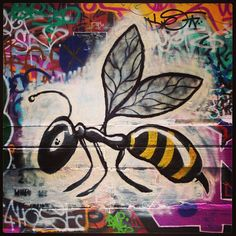 Hornet by Unknown street art graffiti Union Lane Urban Gallery
