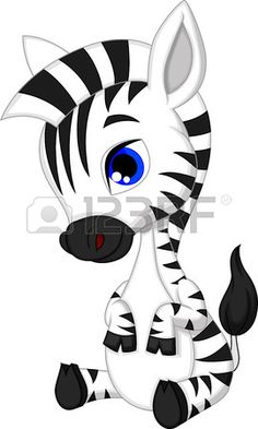 Cute baby zebra cartoon Stock Vector