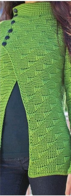 Crochet patterns free: Very elegant and versatile this jacket crochet yarn. see the graph of this model
