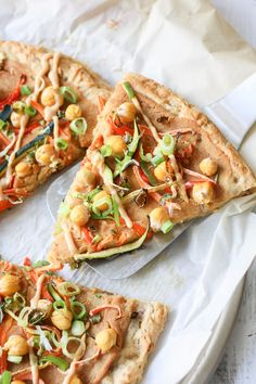 Your favorite pizza gone light! This thai pizza is stacked with veggies and smothered in a light and creamy peanut sauce. Less calories but all the taste!