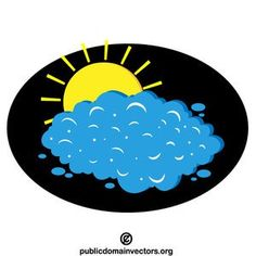 Sun Behind The Cloud Vector Art Publicdomain Vectorgraphics Freevectors Illustrator