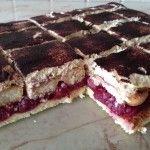 Meggyes mascarpone-s sütemény | mókuslekvár.hu Cake, Food, Mascarpone, Kuchen, Essen, Meals, Torte, Cookies, Yemek