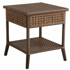 Antigua Bay End Table - oh yeah I need this also Outdoor Side Table, Outdoor Coffee Tables, Patio Table, Rattan Furniture, Outdoor Furniture, Outdoor Decor, Outdoor Life, New Home Wishes, Ocean Room