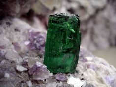 This 139-carat tourmaline crystal was mined recently by Dennis Durgin at Mt. Marie, Maine.