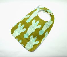 Toddler Bib 10x 17 / 1yr3 yrs /Zebra Bib/  by TextileTrolley, $12.00