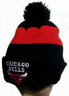 fed2b84fb Chicago Bulls Winter Outdoor Sports Warm Knit Beanie Hat Pom Pom Winter Knit  Hats