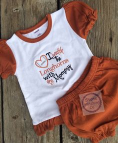 Hey, I found this really awesome Etsy listing at https://www.etsy.com/listing/483891421/texas-longhorn-bodysuit-longhorn-baby